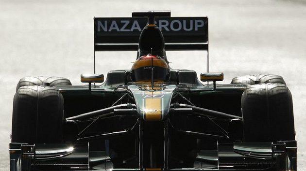 Heikki Kovalainen s monopostem Lotus.