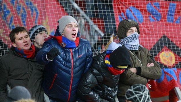 Fanoušci CSKA Moskva na ilustračním snímku.