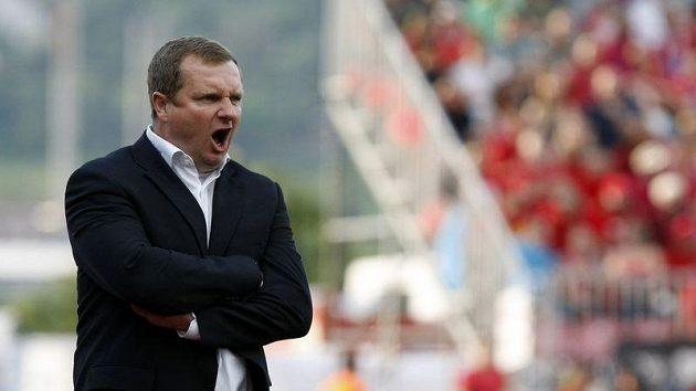 Trenér Pavel Vrba. Fotbalisté Plzně získali první historický titul.