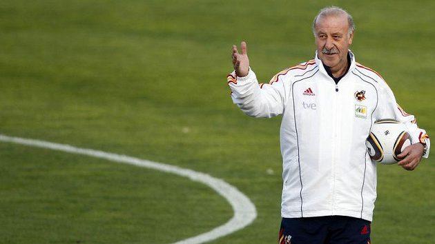 Španělský trenér Vincent del Bosque na tréninku