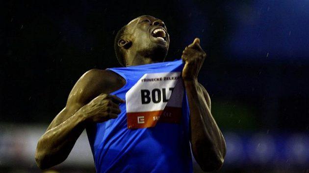 Usain Bolt na Zlaté tretře.
