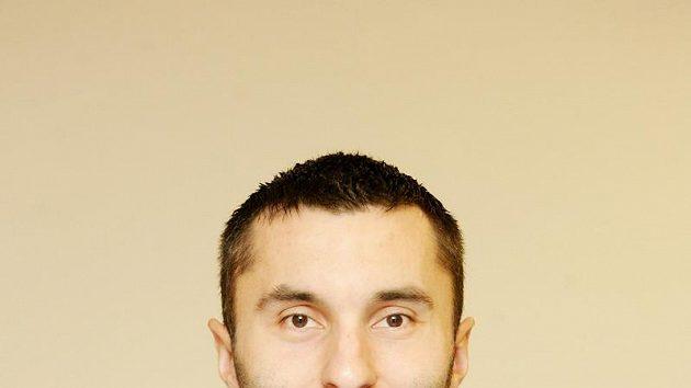 Florbalový obránce Daniel Folta