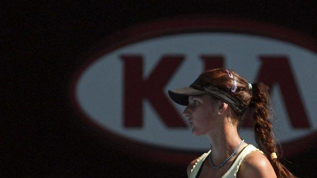 Česká tenistka Karolína Plíšková při finále juniorky na Australian Open.