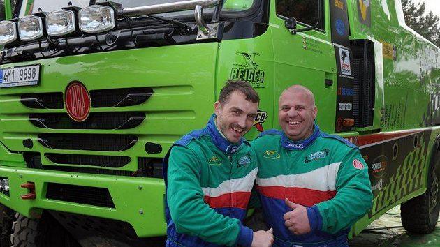 David Vršecký (vlevo)a Marek Spáčil při testech v Senici.