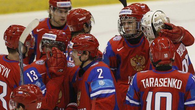 Radost ruských hokejistů do 20 let
