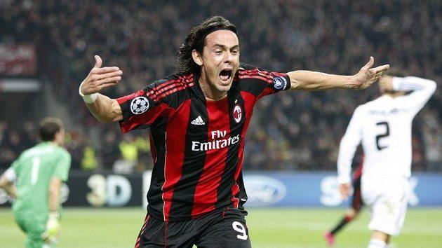 Filippo Inzaghi si proti Plzni nezahraje.