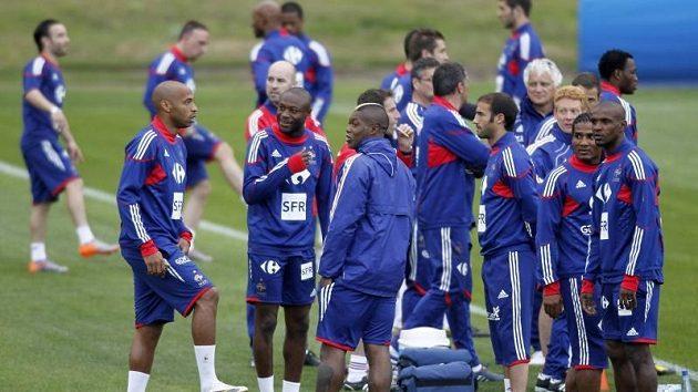 Fotbalisté Francie během tréninku.