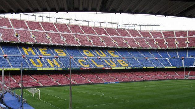 Nou Camp, fotbalový stánek FC Barcelona.