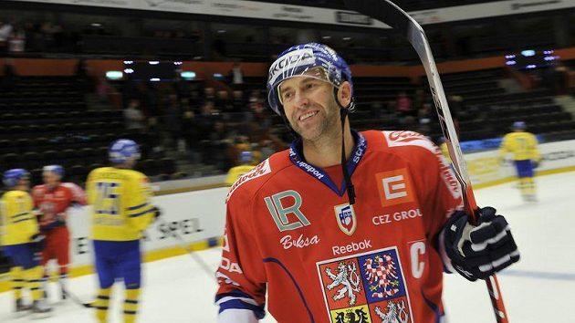 Petr Nedvěd se stal hrdinou zápasu proti Švédům.