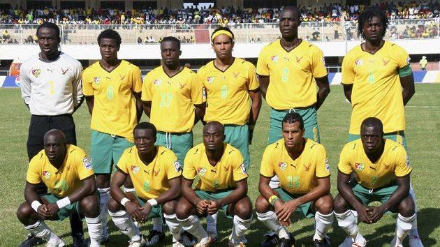 Fotbalová reprezentace Toga na archivním snímku před utkáním kvalifikace MS 2010 s Marokem.