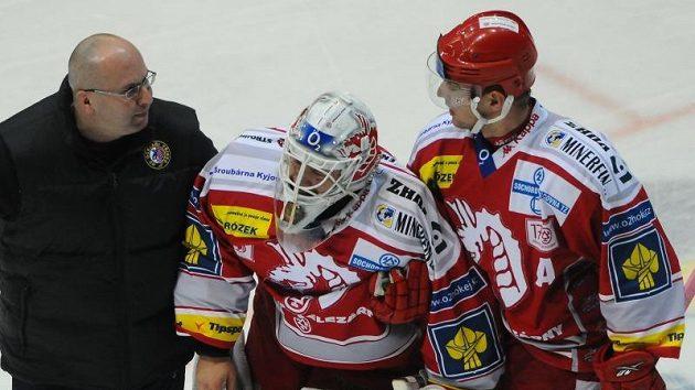 Třinec zvládl utkání ve Zlíně i bez zraněného gólmana Duby.