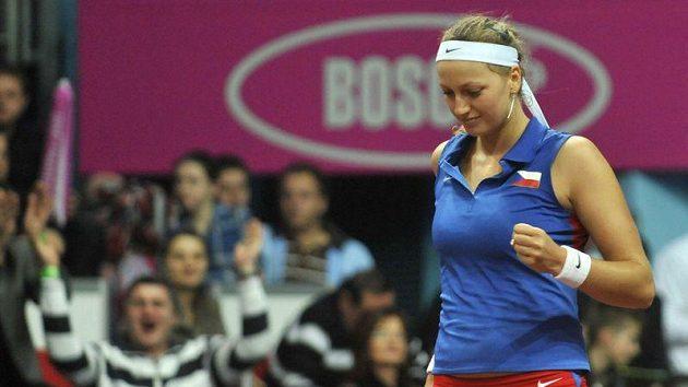 Petra Kvitová se s českým týmem připravuje v Belgii na fedcupové utkání.