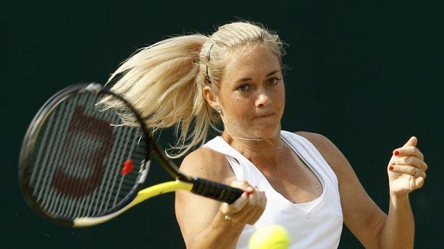 Česká tenistka Klára Zakopalová na turnaji v Kodani.