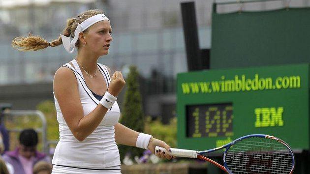 Petra Kvitová po vítězství nad Italkou Vinciovou.