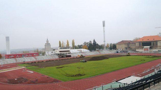 Stadión Juliska, která prošla na konci roku 2011 úpravami.