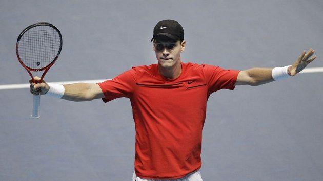 Čeští tenisté Petra Kvitová a Tomáš Berdych (na snímku) smetli na Hopmanově poháru tým USA 3:0 na zápasy.