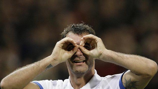 Dejan Stankovič z Interu Milán svérazně vyhlíží osmifinále Ligy mistrů.