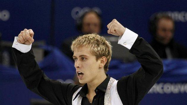 Krasobruslař Michal Březina na olympijských hrách ve Vancouveru.