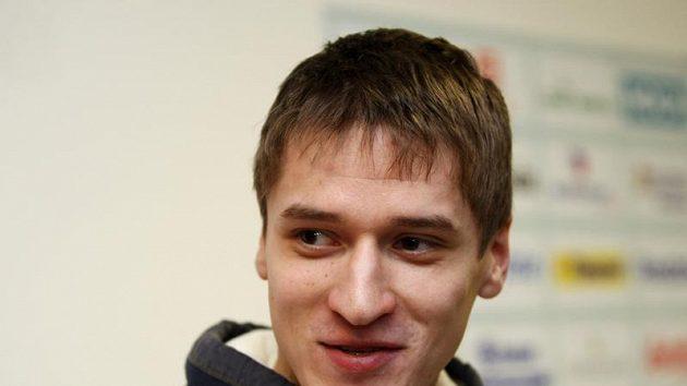 Brankář Jakub Štěpánek