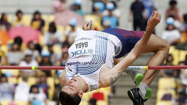 Výškař Jaroslav Bába na mistrovství světa v Tegu