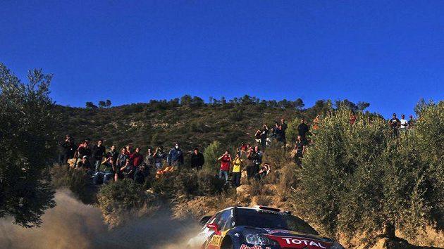 Sébastien Loeb a jeho spolujezdec Daniel Elena během Katalánské rallye