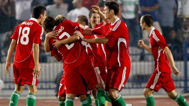 Radost fotbalistů Maďarska ze zisku bronzových medailí na MS hráčů do 20 let