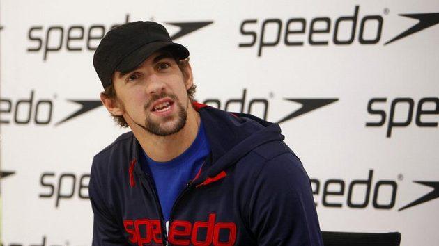 Olympijský vítěz v plavání Michael Phelps na autogramiádě v Berlíně.