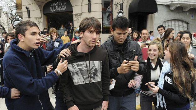 Lionel Messi v rodném Rosariu.