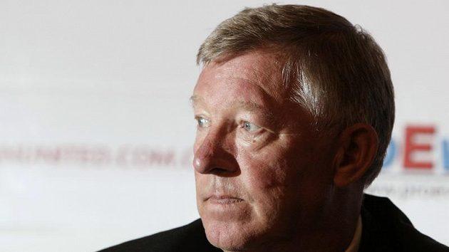 Smutný trenér Manchesteru United Alex Ferguson