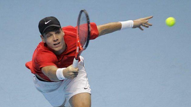 Tomáš Berdych v zápase s Ferrerem