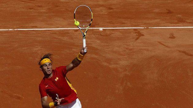 Rafael Nadal porazil Richarda Gasqueta suverénně 6:3, 6:0 a 6:1.