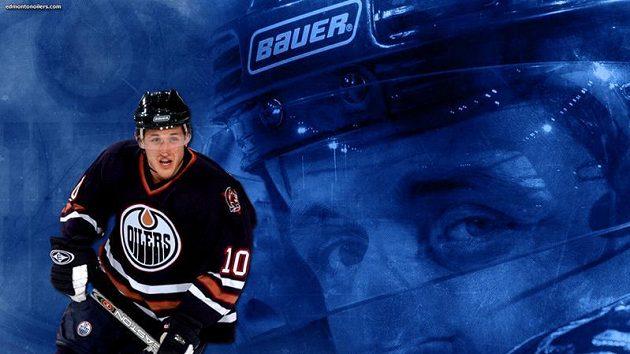 Útočník Edmontonu Shawvn Horcoff.