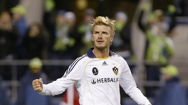 David Beckham v dresu LA Galaxy