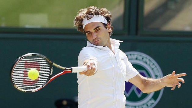 Švýcarský tenista Roger Federer na Wimbledonu