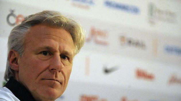 Björn Borg na tiskové konferenci před exhibičním duelem s Ivanem Lendlem v Ostravě.