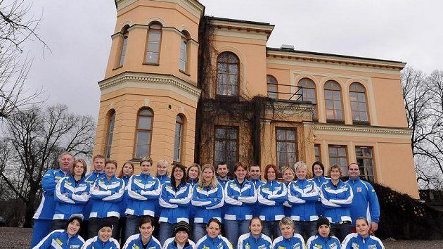 Tajemný i romantický je zámek, na němž české florbalistky bydlí během mistrovství světa.