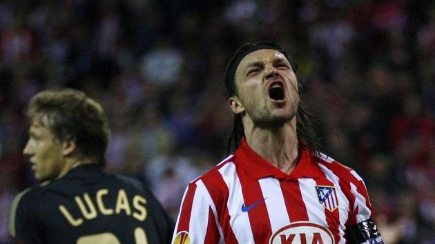 Obránce Atlétika Madrid Tomáš Ujfaluši