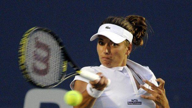 Tenistka Petra Cetkovská na turnaji v New Havenu
