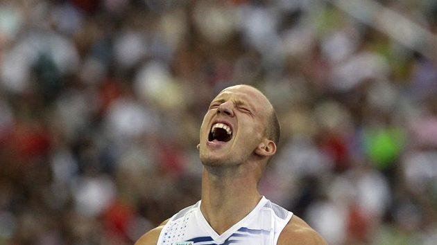 Zklamání ve tváři Petra Svobody po finále závodu na 110 metrů překážek na ME v Barceloně.
