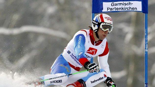 Carlo Janka při obřím slalomu v Ga-Pa.