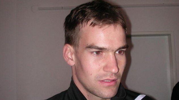 Brankář Jan Hanuš.