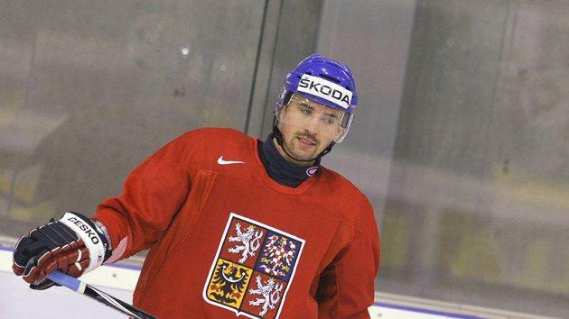 Ilustrační foto: Tomáš Plekanec na tréninku národního týmu
