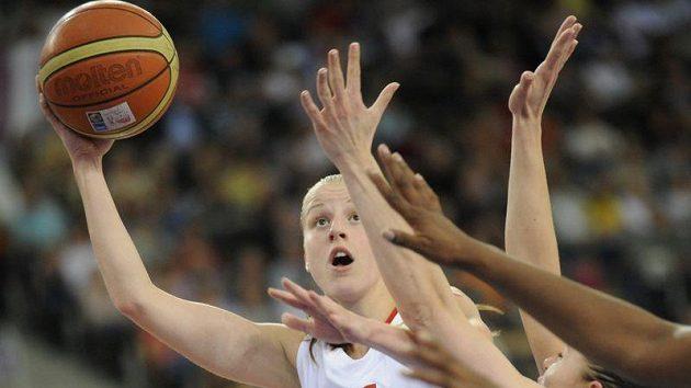 Kateřina Elhotová v utkání proti Francii