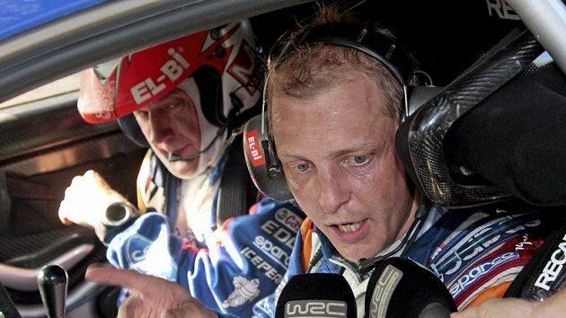 Finský pilot Mikko Hirvonen.