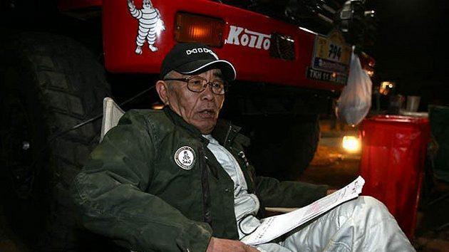Jošimasa Sugawara vbivaku po 4. etapě Rallye Dakar. Japonský pilot jede slavnou soutěž podvacáté.