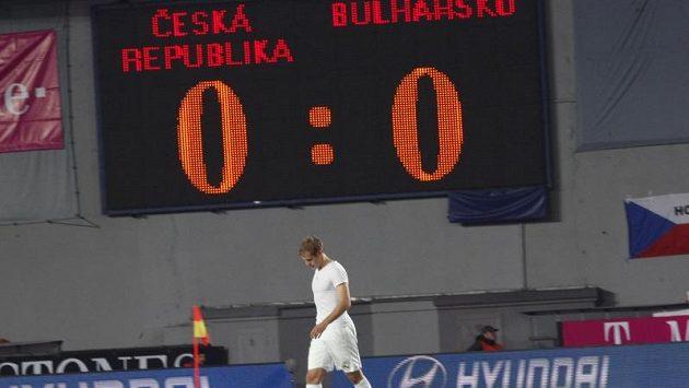Čeští fotbalisté smutní, zápas s Bulharskem jim na Letné přinesl jen jeden bod.