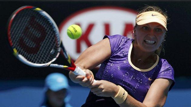 Česká tenistka Petra Kvitová vstoupila do bojů na Australian Open úspěšně.