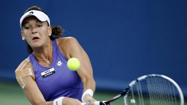 Polská tenistka Agnieszka Radwaňská má potíže s ramenem.
