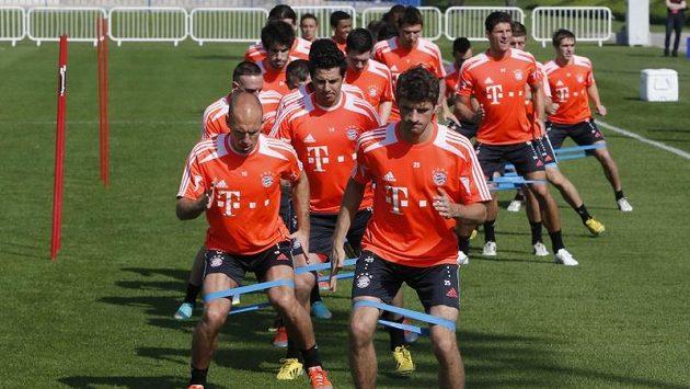 Trénink fotbalistů Bayernu Mnichov v katarském Dauhá.
