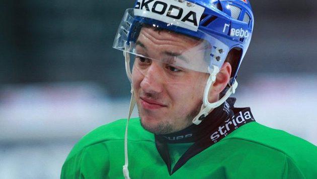 Jan Kovář na tréninku reprezentace